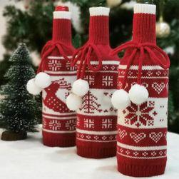 Husă cu motive de Crăciun pentru sticlă TF1456