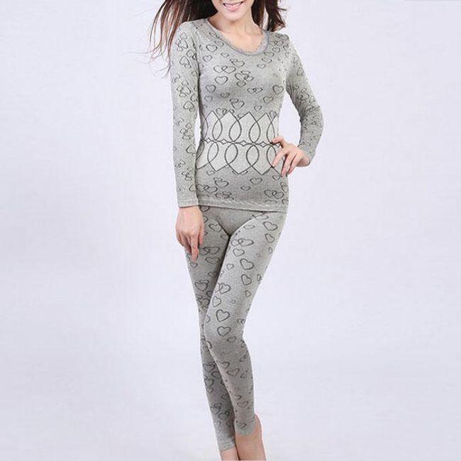 Dámské bezešvé termo pyžamo - ve 3 barvách 1