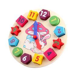 Дървен детски часовник M748
