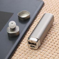 Bluetooth sluchátko s power bankou 2v1