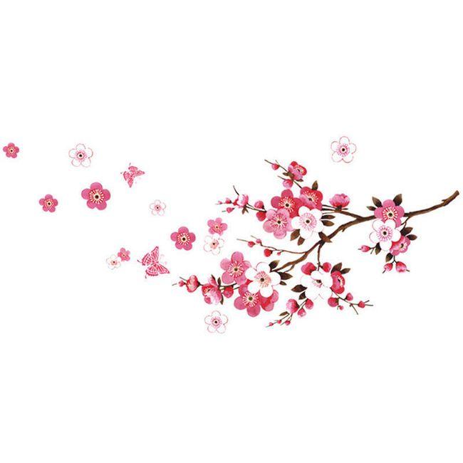 Větev třešně - nálepka na zeď 1
