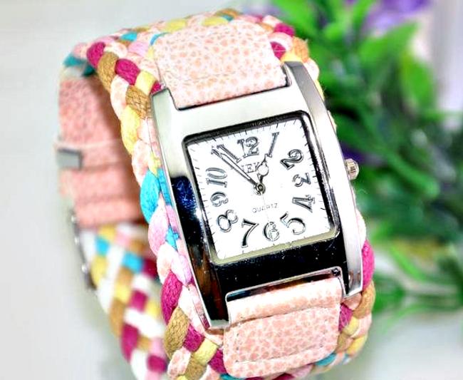 Dámské hodinky s proplétaným páskem - 5 barev 1