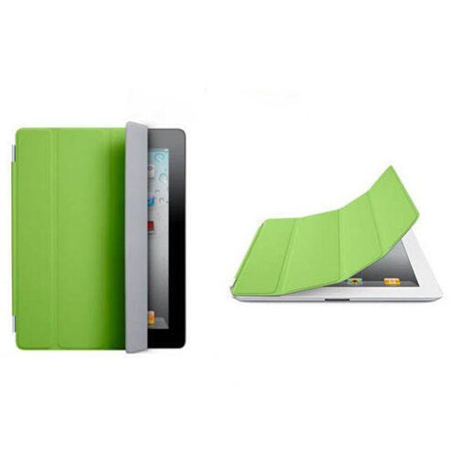 Magnetický chytrý kryt pro iPad 2 - zelený 1