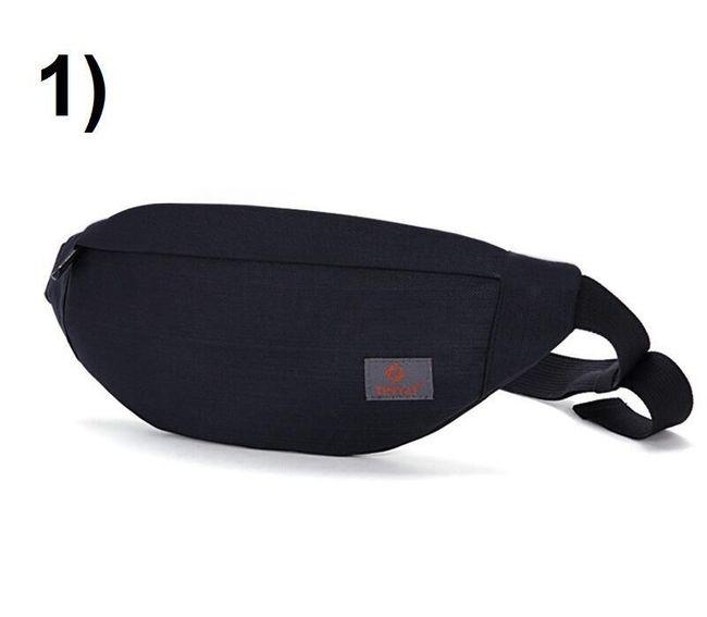 Praktická pánská ledvinka přes rameno - 1) Černá 1