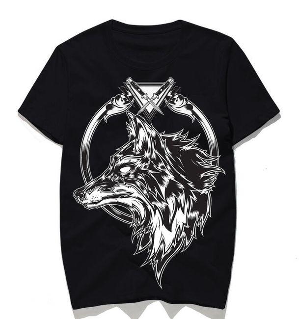Pánské tričko s vlkem - 2 barvy 1