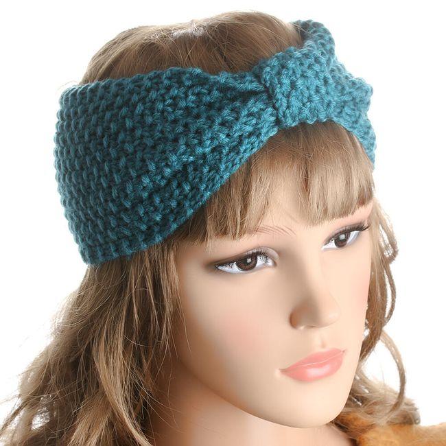 Topla pletena  traka za kosu 1