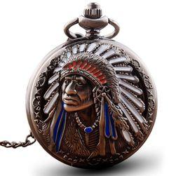 Vintage zsebóra indiánnal