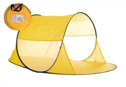 Stan plážový žlutý 140x70x62cm samorozkládací polyester/kov v látkové tašce RM_00170006