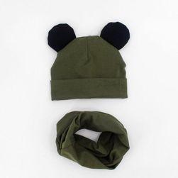 Детская шапка с шарфиком FG48