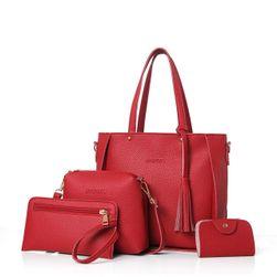 Štiridelni set ženskih torbic  Rdeča