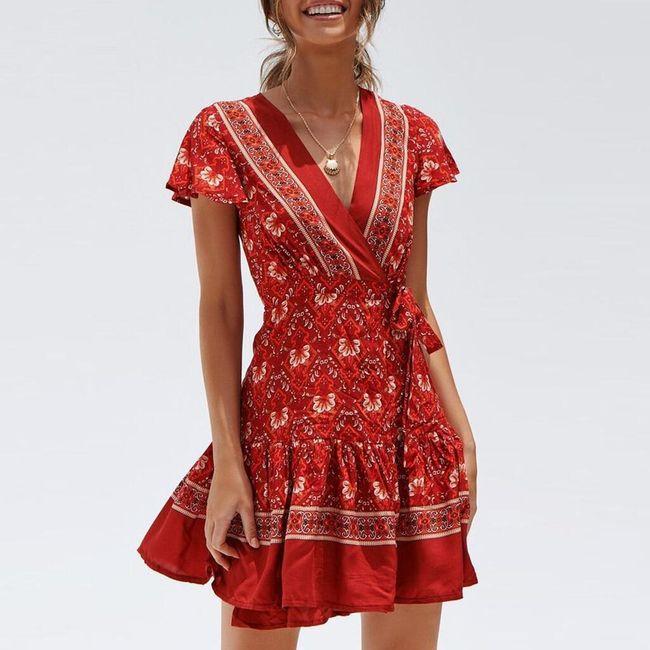 Damska sukienka z krótkim rękawem Tatiana 1