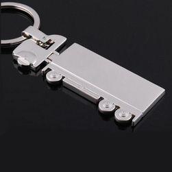 Kulcstartó teherautó ezüst színben