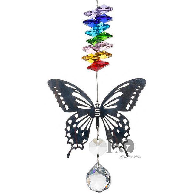 Závěsná dekorace - motýli s kamínky 1