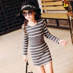 Dívčí šaty s dlouhým rukávem - 8 variant