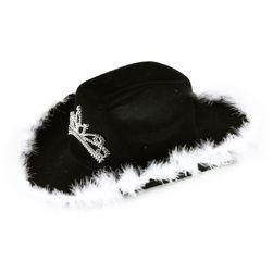 Klobouk kovbojský černý s korunkou dámský RZ_206557