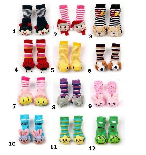 Veselé dětské ponožky s protiskluzovou vrstvou - na výběr z 12 provedení 1