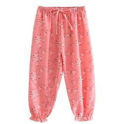 Dívčí kalhoty s kytičkami - 4 barvy