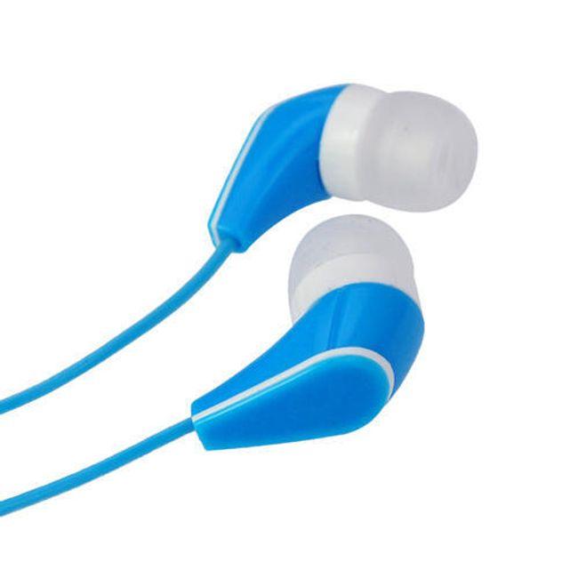 Stereo sluchátka 3,5mm - špunty, modré 1