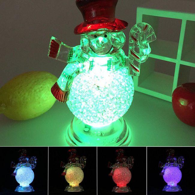 Karácsonyi LED hóember 1