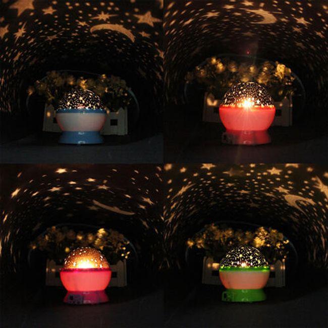 Csillagos fényvetítő - 4 szín közül választhat 1