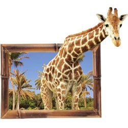 3D стикер за стена - Любопитен жираф