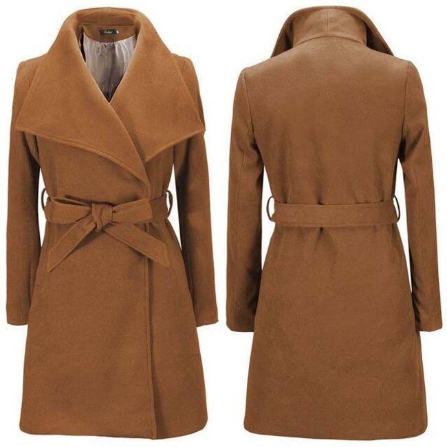 Dámský zimní kabát Lauren - Khaki 1