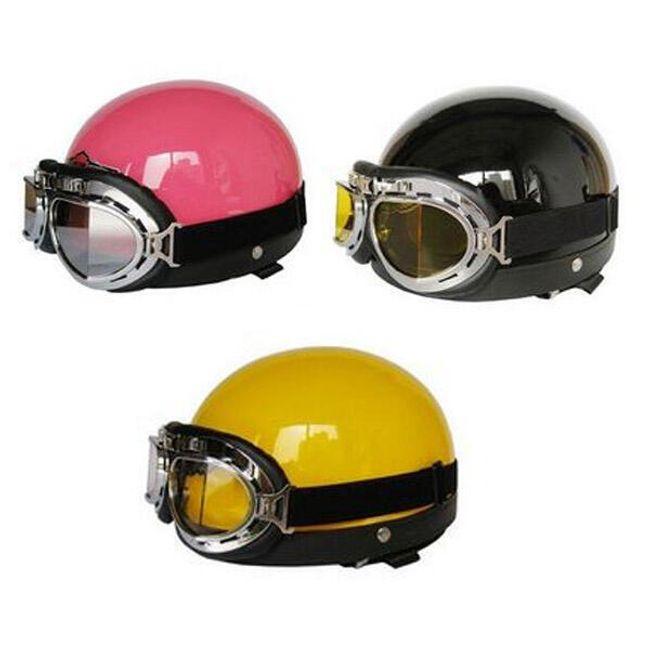 Helma na motorku více barev s brýlemi 1