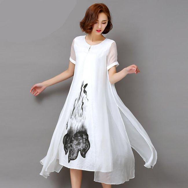 Haljina sa aprstraktnim motivom - 2 boje 1