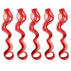 Barevné příčesky do vlasů - červené SR_DS15521986