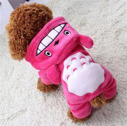 Топъл костюм с уши за кучета - 3 цвята