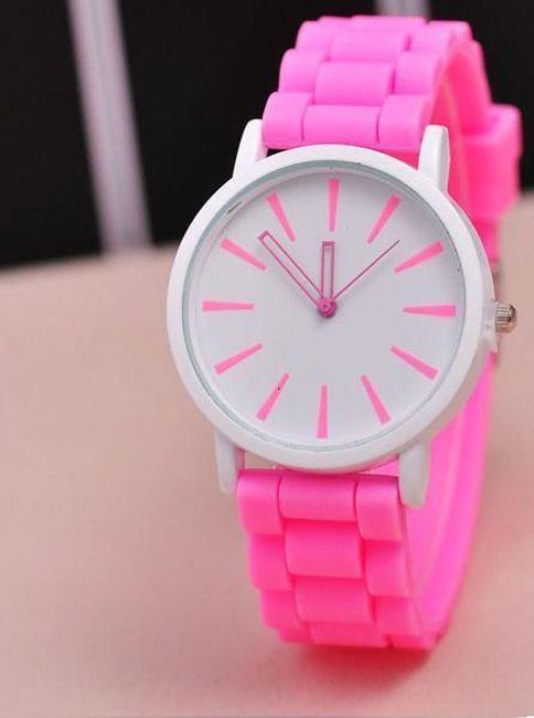 Часовник със силиконова каишка в пастелови цветове 1