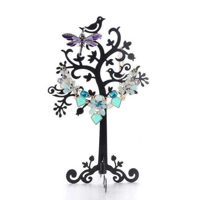 Металлическая подставка для украшений - Дерево с птицами 1