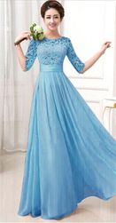 Balska haljina sa skraćenim rukavima - 3 boje
