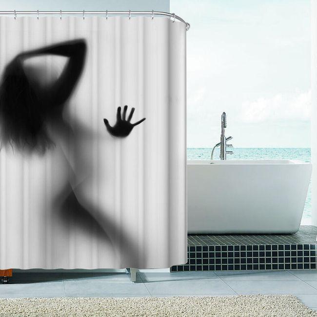 Koupelnový závěs se sexy siluetou 1
