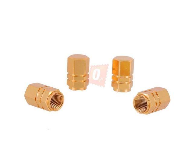 Ozdobné čepičky ventilků 4ks - zlaté 1