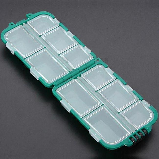 Box plastový na rybářské háčky - zelený 1
