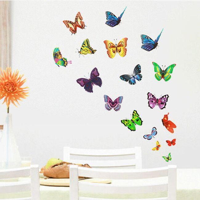 Stenska nalepka v obliki metuljev 1