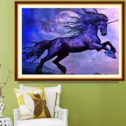DIY картина в технике алмазной живописи- конь