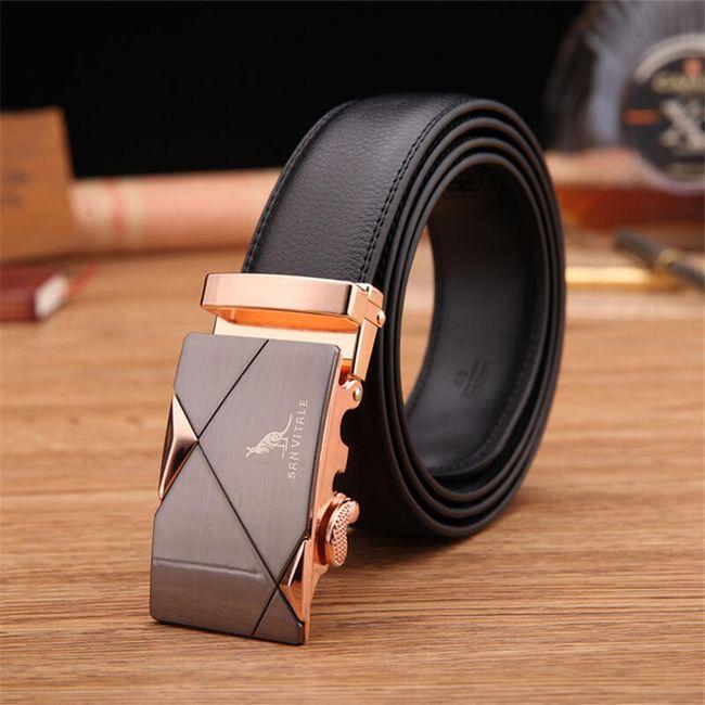 Pánský pásek v elegantním stylu s přezkou - 3 barvy 1