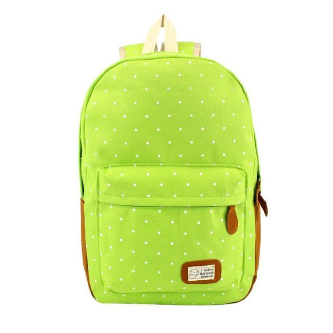 Plátěný batoh s puntíky - 7 barev 1