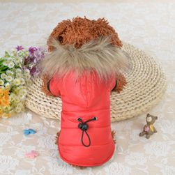 Odjeća za pse sa krznom na kapuljači