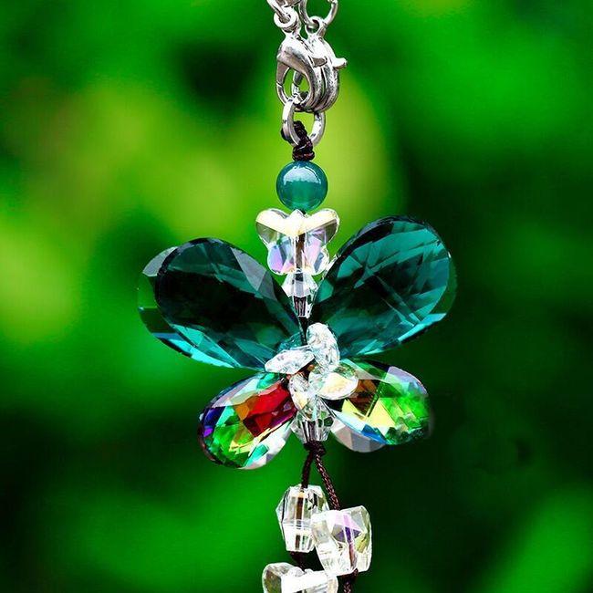 Sada tří skleněných motýlků 1