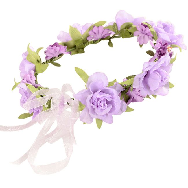Venac sa cvetićima za kosu - 4 varijante 1