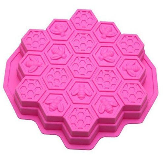 Silikonová univerzální forma - včelí plástve 1