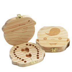 Drevená krabička na detské zúbky - chlapec / dievča
