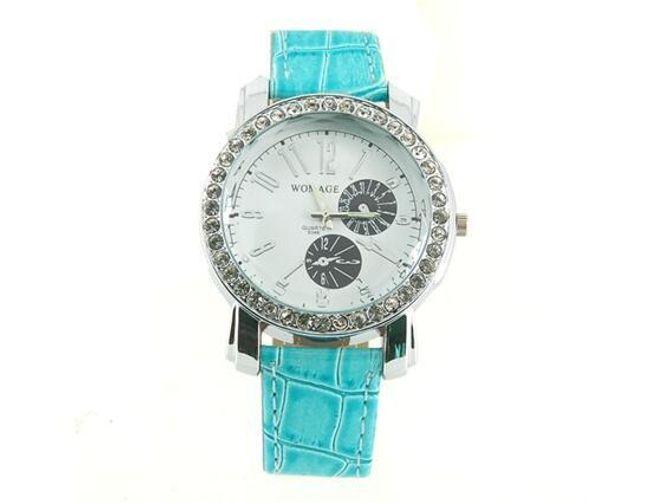 Zegarek WOMAGE ozdobiony błyszczącymi kamyczkami - 5 kolorów 1