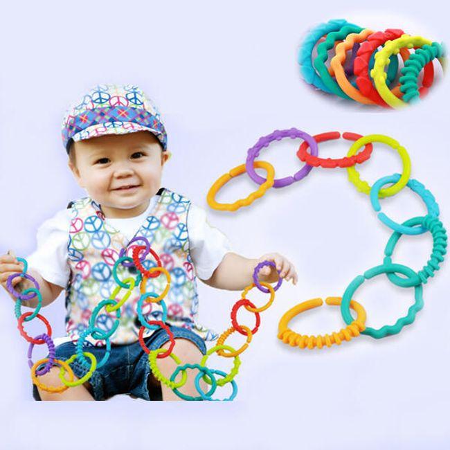 24 kosov povezovalnih obročev - igrača za otroke 1