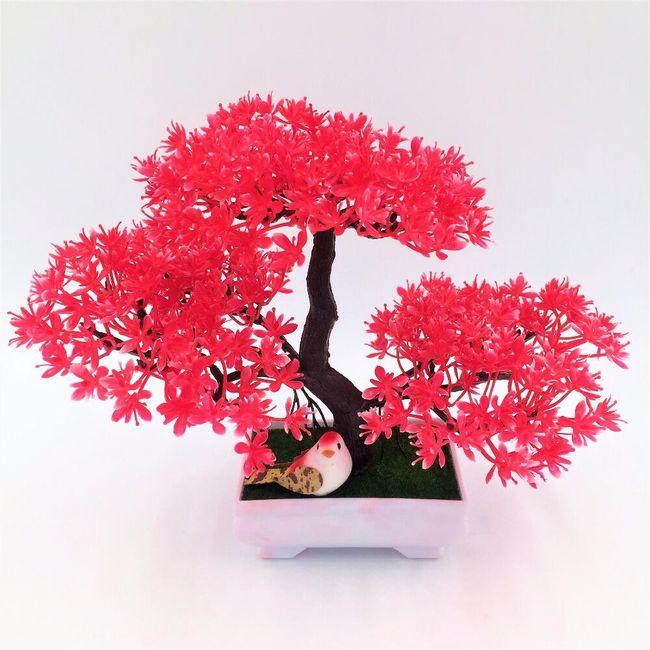 Umělá bonsai Sakura v květináči - 7 barev 1