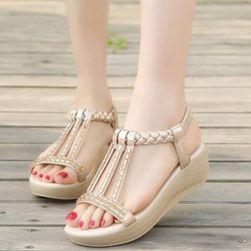 Dámské sandály na klínku Barbora