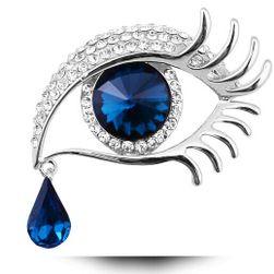 Elegancka broszka z motywem anielskich oczu z łezką